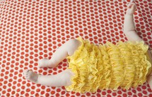 legs and torso of an infant girl