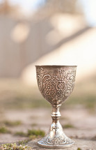 Silver chalice.