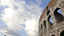 clouds over the Parthenon in Rome