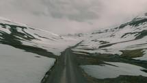 road through a winter landscape