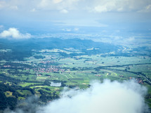 aerial view over Bavaria