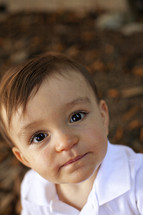 bright eyed toddler boy