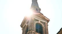 bright sunlight on a steeple