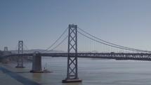 Cars moving along the San Francisco Bay Bridge
