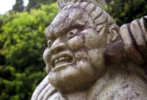 scary Japanese statue