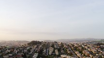 Aerial Shot of Neighborhood in San Francisco Early In The Morning