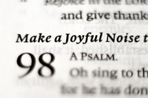 Make a Joyful noise - Psalm 98