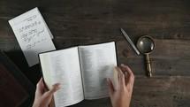 a man teaching from a Bible