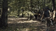 paintball in the woods