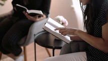 women's group Bible study in a home