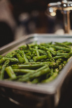 Green beans in a dish