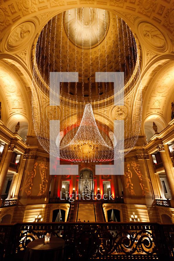 Fancy lobby in hotel