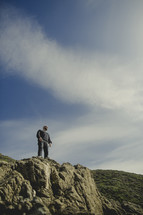 man standing on the edge