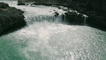 river rapids and waterfall