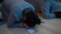 surrendering on the floor