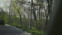 driving on a rural road