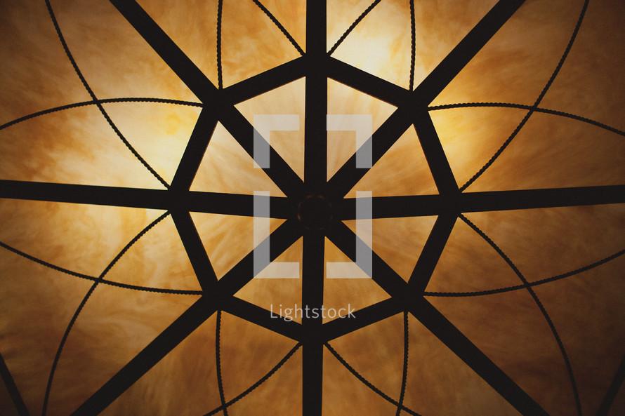 Symmetrical light chandelier