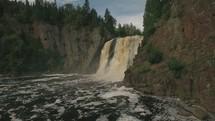 muddy waterfall