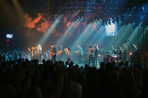 musicians, music, performers, on stage, stage lights, spot lights, audience