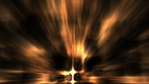 radiating light