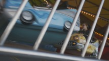 Amusement park ride and lights (multiple shots)