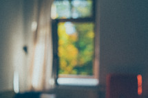 out of focus opened window