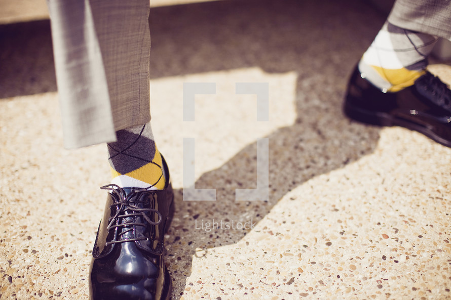 Man's shoes and socks