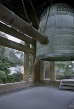 Japanese ball in a bell tower