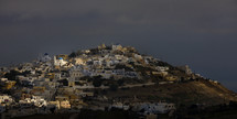 A village settled on a hill in Greece