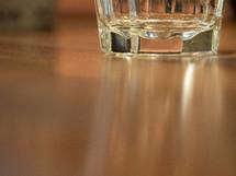 bottom of a glass