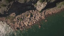 drone of water and cliffs