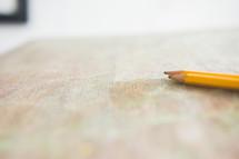pencils on a student desk
