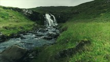 waterfall and stream in Iceland