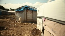 tent city in Haiti