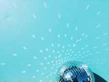 disco ball and light reflecting