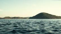 moving lake water