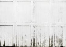 weathered white barn doors background