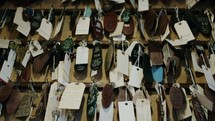 hundreds of keys hanging on hooks