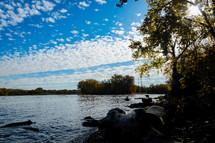 edge of a riverbank