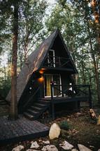 triangle shaped cabin