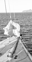 ropes on a catamaran