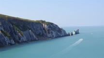 cliffs along a shore
