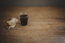 wine and bread for communion