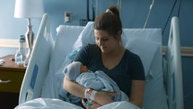 mother and newborn baby in the hospital