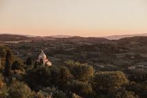 a church on the hillside of Italy