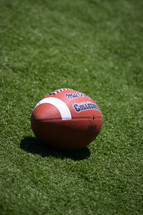 a football on astroturf