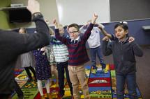 dancing children during children's church