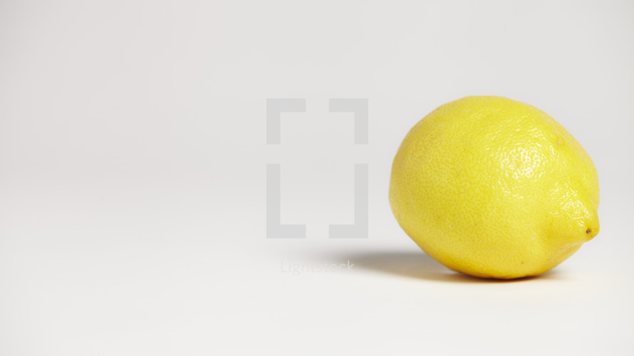 A lemon isolated on white