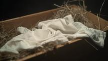empty manger in anticipation of baby Jesus