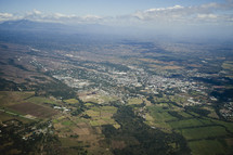 Aerial view of small town